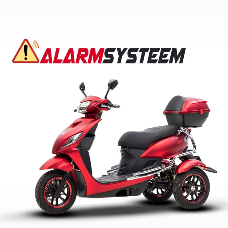 Driewielscooter Pride Alarm System